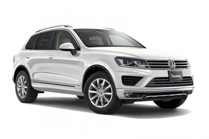 VW トゥアレグ2015 オリックスホワイト マザーオブパールエフェクト
