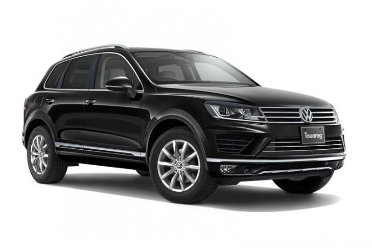VW トゥアレグ2015 ディープブラックパールエフェクト