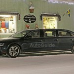 AUDI「新型A8リムジン」開発テスト車両スパイショット;デザイン画像集
