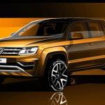 VW「新型アマロック2017」発表;ティザーデザイン画像
