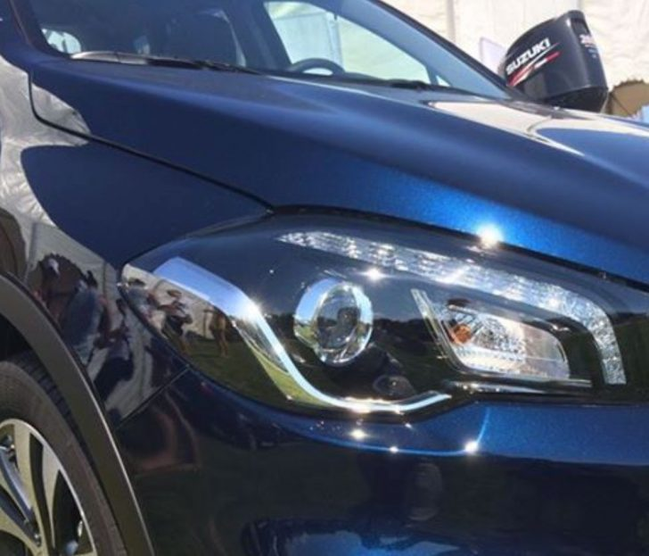 Suzuki-S-Cross-facelift-headlamp-photographed