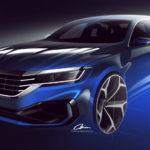 フォルクスワーゲン「新型 Passat sketches 2020」公式デザイン画像集!